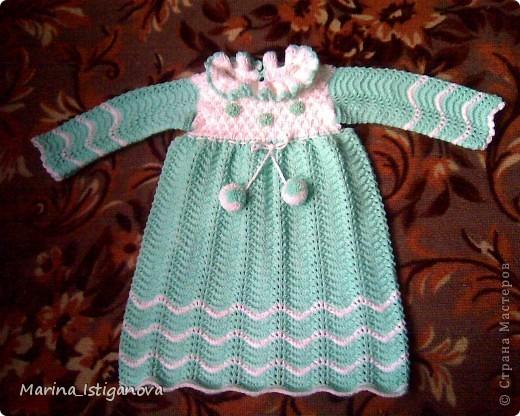 Голубое платьице на девочку 2-3 лет