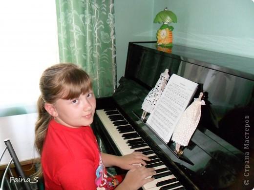 Дочка попросила сшить ей тильдочек, а т.к. она занимается в музыкальной школе, то решила, что ей для вдохновения нужны  ангелы музыки. фото 3