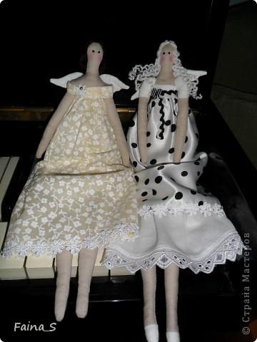 Дочка попросила сшить ей тильдочек, а т.к. она занимается в музыкальной школе, то решила, что ей для вдохновения нужны  ангелы музыки. фото 8