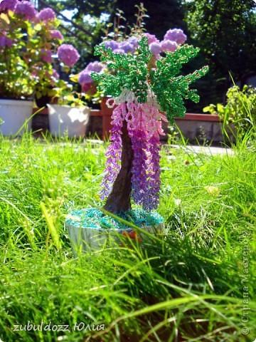 Мое первое бисерное дерево фото 1