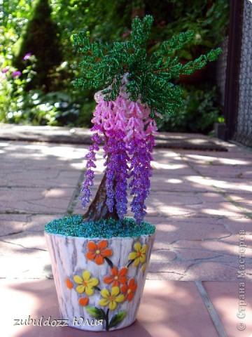 Мое первое бисерное дерево фото 2
