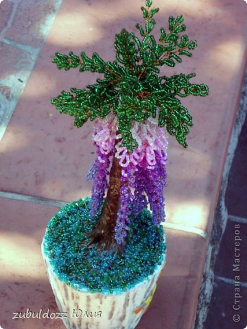 Мое первое бисерное дерево фото 5
