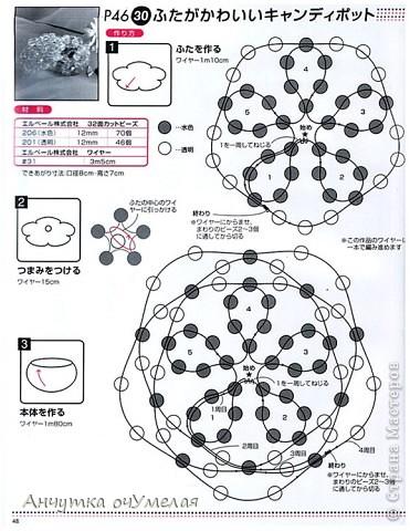 Это шкатулочка из больших бусин.Плела по схеме из какого-то японского или китайского журнала.К сожалению,ни название,ни автора не могу указать,т.к. там только иероглифы. фото 3