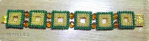 Этот браслет плетен мозаикой из чешского бисера фото 4