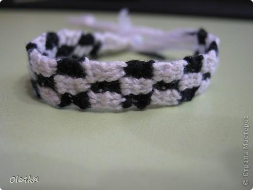 фенечки из мулине( прямое плетение) фото 1