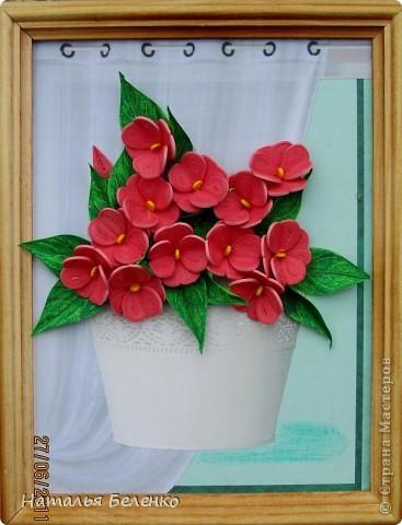 Добрый день!!! Сегодня у меня бальзамин - комнатное растение. Размер работы 20*25 см. фото 9