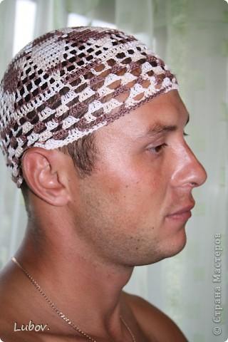 Летняя шапочка для мужа. фото 2
