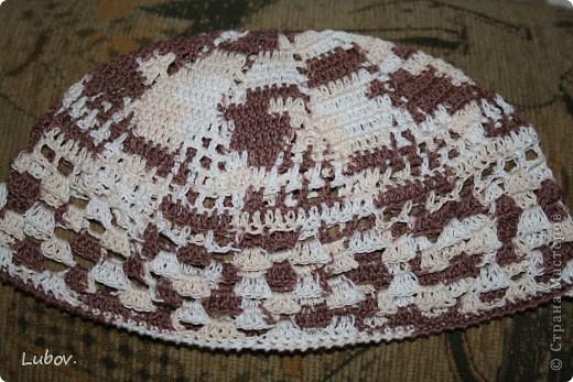 Летняя шапочка для мужа. фото 5