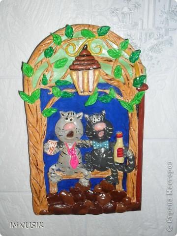 """Наше первое """"соленое"""" панно, """"В гостях у КУЗИ""""...делали с сыном на школьную выставку поделок))) Идею домика """"сперла"""" с инета, точно не помню от куда...но Кузя полностью мое творение)) фото 8"""