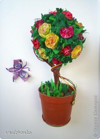 Ко дню рождения для замечательного человека решила сделать классическое деревце. фото 3
