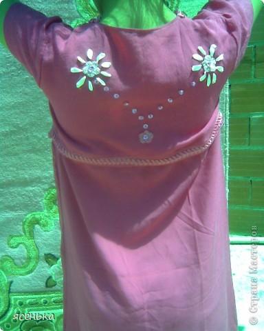 Очень люблю сочетание ткани и крючка...Здесь топ и кармашки вывязаны крючком..Цветочек из ленты... фото 5