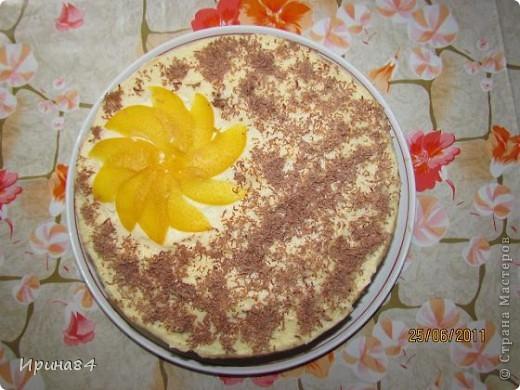 Тортик фруктовый для себя на День Рождения. В этот раз добавила клубнику.  Первый вариант торта тут http://stranamasterov.ru/node/199592 фото 2