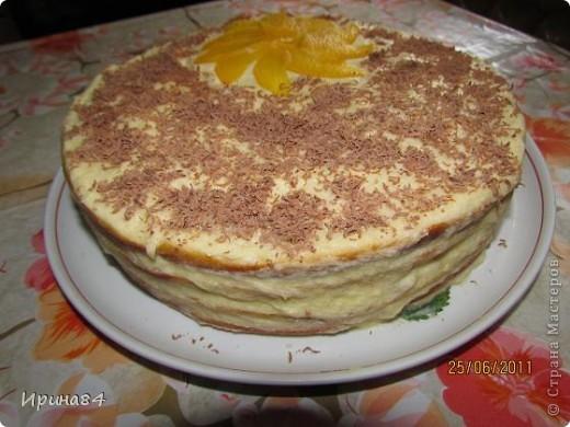 Тортик фруктовый для себя на День Рождения. В этот раз добавила клубнику.  Первый вариант торта тут http://stranamasterov.ru/node/199592 фото 1