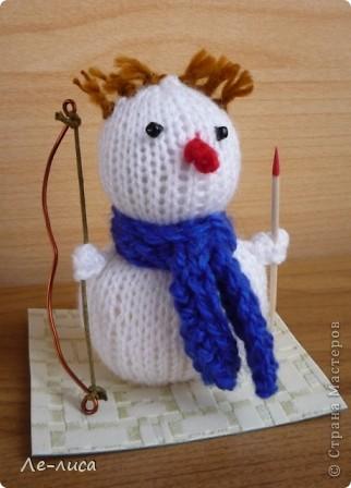 Срочно понадобилось для физкультурного форума сделать сувениры в подарок участникам. Так за 2 дня родились эти снеговички. фото 4