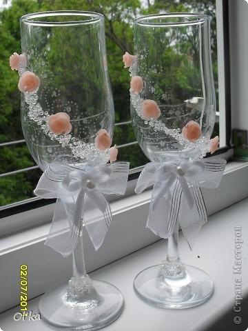Мои первые Свадебные фужеры фото 3