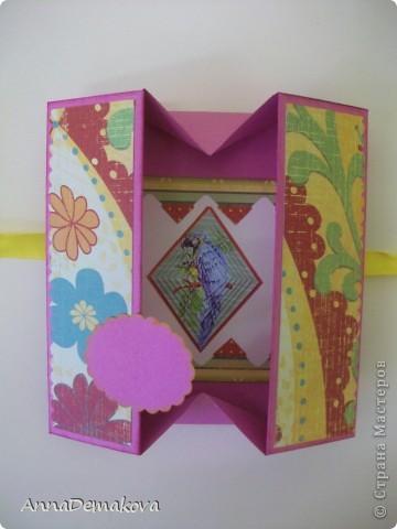 Вот такую открыточку коробочку я сделала по просьбе мастериц. В этот раз она получилась как раз по размеру карточки АТС. фото 19