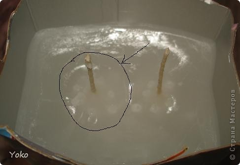 """Итак, дорогие мои, решила я вам показать не только как я декорирую свечи, но и сам, собственно, процесс их изготовления. Сегодня будем делать свечу из парафина с двумя фитилями в стиле """"Афро"""". Начнем фото 14"""