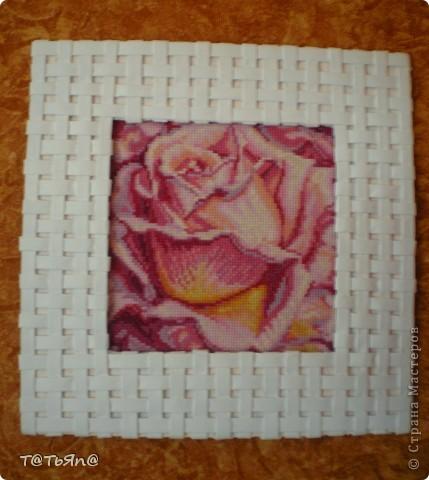 Плетеная рамочка фото 1