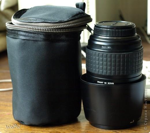 У меня вечная проблема транспортировки объектива. Фотоаппарат можно сунуть в сумку, а кофр брать не хочется (слишком внимание привлекает). Пришлось сшить фото 1