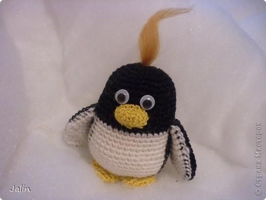 Попросили меня однажды связать пингвина... Так и появился на свет этот маленький пингвиненок по имени Ганкстер (как назвал его хозяин :) фото 5