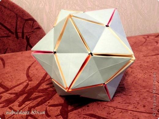 """Кусудама №4 """"Цветущий шар"""" (Хотя я бы его назвала """"Фокусный"""") фото 3"""