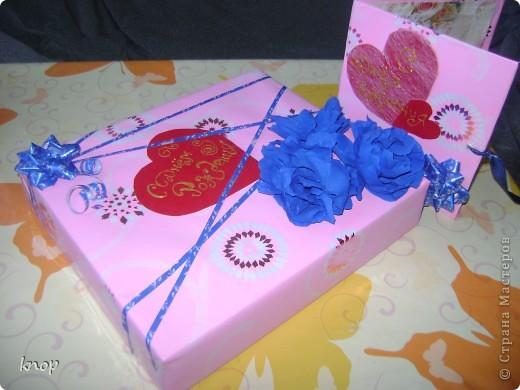 вот так я упаковала подарок моей маленькой сестренке! когда упаковала родилась мысль об открытке! фото 1
