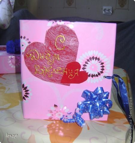 вот так я упаковала подарок моей маленькой сестренке! когда упаковала родилась мысль об открытке! фото 3