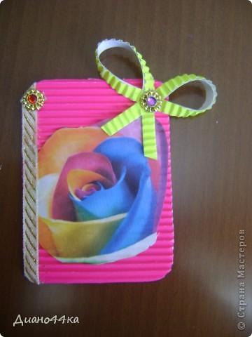 """Решила попробовать делать карточки АТС.Вот первая серия """"Радужные цветы. фото 4"""