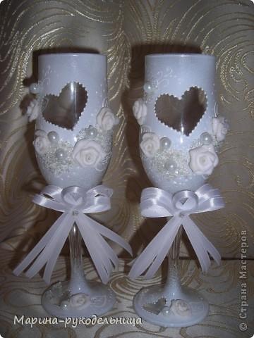 Свадебные бокалы фото 7
