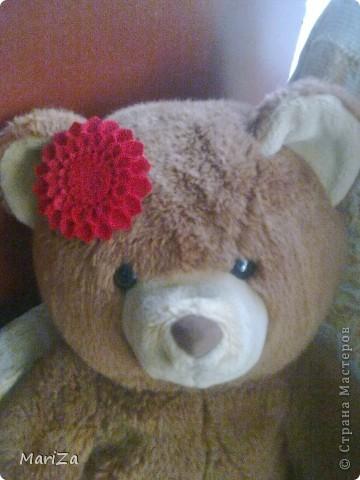 Брошь-цветок из фетра фото 1