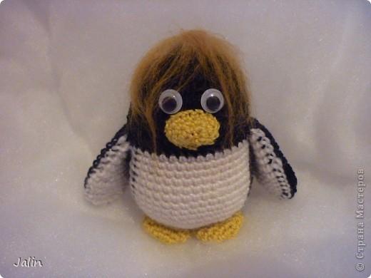 Попросили меня однажды связать пингвина... Так и появился на свет этот маленький пингвиненок по имени Ганкстер (как назвал его хозяин :) фото 6