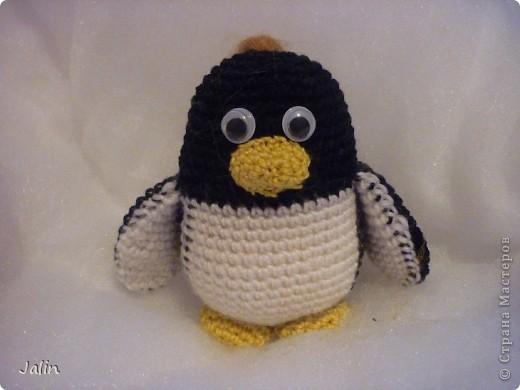 Попросили меня однажды связать пингвина... Так и появился на свет этот маленький пингвиненок по имени Ганкстер (как назвал его хозяин :) фото 4