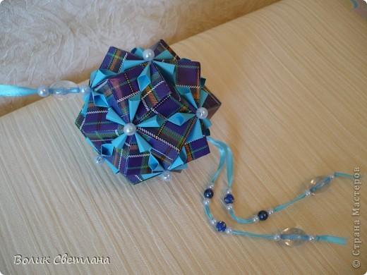 На сколько мне позволяет мой английский, у Томоко Фусе этот глоб называется Завернутый бантик))) Книжка Tomoko Fuse - Floral Globe Origami стр. 40-41 фото 2
