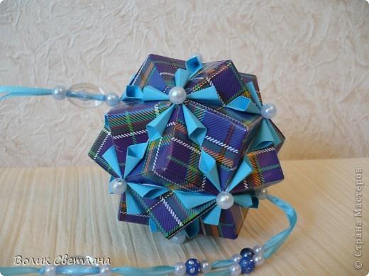 На сколько мне позволяет мой английский, у Томоко Фусе этот глоб называется Завернутый бантик))) Книжка Tomoko Fuse - Floral Globe Origami стр. 40-41 фото 3