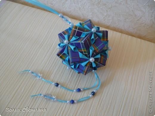 На сколько мне позволяет мой английский, у Томоко Фусе этот глоб называется Завернутый бантик))) Книжка Tomoko Fuse - Floral Globe Origami стр. 40-41 фото 4