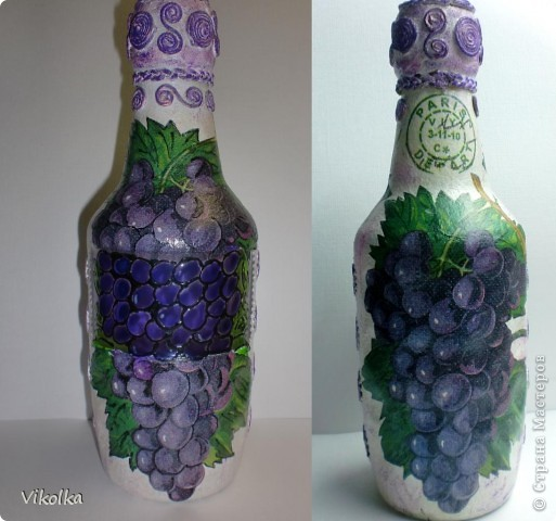 Вот такую парочку я сделала на днях. Спасибо Лене (Хомочке) за виноградную салфетку, давно хотела что-нибудь с виноградом! фото 2