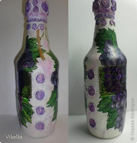 Вот такую парочку я сделала на днях. Спасибо Лене (Хомочке) за виноградную салфетку, давно хотела что-нибудь с виноградом! фото 3