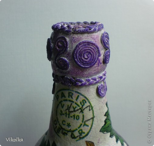 Вот такую парочку я сделала на днях. Спасибо Лене (Хомочке) за виноградную салфетку, давно хотела что-нибудь с виноградом! фото 5