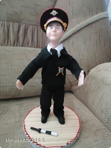 """Портретная кукла """"Гаишник"""" (в парадном костюме) фото 1"""