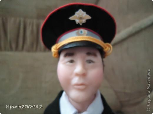 """Портретная кукла """"Гаишник"""" (в парадном костюме) фото 3"""