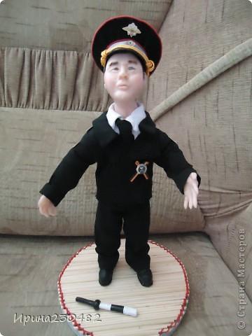 """Портретная кукла """"Гаишник"""" (в парадном костюме) фото 13"""