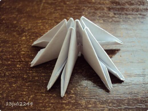 Мастер-класс Поделка изделие День рождения Оригами китайское модульное МК КОШЕЧКА Бумага Клей фото 3