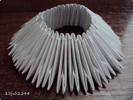 Мастер-класс Поделка изделие День рождения Оригами китайское модульное МК КОШЕЧКА Бумага Клей фото 4