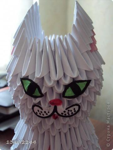 Мастер-класс Поделка изделие День рождения Оригами китайское модульное МК КОШЕЧКА Бумага Клей фото 41