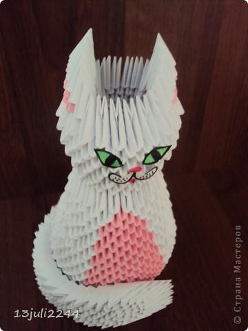 Мастер-класс Поделка изделие День рождения Оригами китайское модульное МК КОШЕЧКА Бумага Клей фото 46