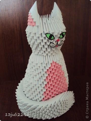 Мастер-класс Поделка изделие День рождения Оригами китайское модульное МК КОШЕЧКА Бумага Клей фото 43