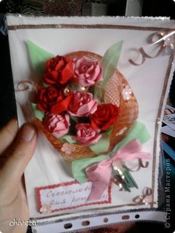 Панно с цветами и пара открыток фото 5