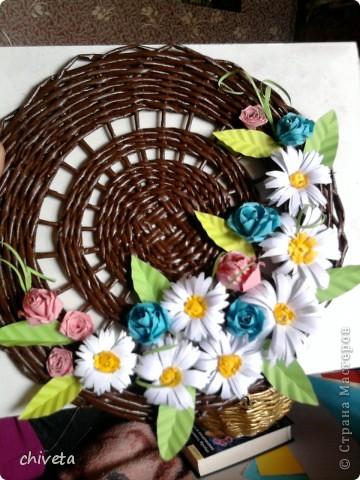 Панно с цветами и пара открыток фото 1