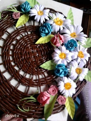Панно с цветами и пара открыток фото 2