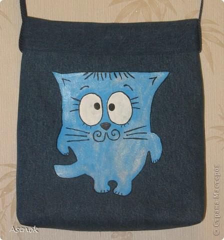 Заказали мне сумку для девочки 9 лет... и опять с котиком :)  Это был первоначальный вариант. фото 1
